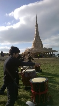 Ibuki Taiko plays at The Burning Man 'Temple' by David Best